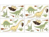 Dinosaur Land Wall Decal Stickers by Sweet Jojo Designs - Set of 4 Sheets (Sweet Jojo Designs: 846480009818)