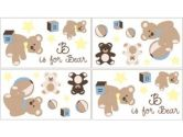 Teddy Bear Chocolate Wall Decal Stickers by Sweet Jojo Designs - Set of 4 Sheets (Sweet Jojo Designs: 846480010258)