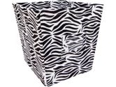Trend Lab 106965 Black & White Zebra - Bin - Medium (Trend Lab: 846216026256)
