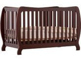 Stork Craft 04587-344 Monza II Fixed Side Convertible Crib (Cherry) (Stork Craft: 056927084159)