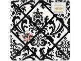 Black and White Isabella Fabric Memory/Memo Photo Bulletin Board by Sweet Jojo Designs (Sweet Jojo Designs: 846480010524)