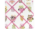 Pink Happy Owl Fabric Memory/Memo Photo Bulletin Board by Sweet Jojo Designs (Sweet Jojo Designs: 846480012344)