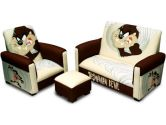 Warner Brothers 90094 TAZ Tasmanian Devil Toddler Sofa, Chair and Ottoman Set (Warner Bros: 658129900949)
