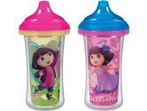 Munchkin Dora the Explorer Click Lock Insulated Sippy Cup, 9-Ounce, 2-Count (Munchkin: 735282154065)