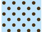 SheetWorld Crib / Toddler Sheet - Brown Polka Dots Blue Woven - 28 inches x 52 inches (71.1 cm x 132.1 cm) - Made In USA (sheetworld: 816713011512)
