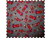 SheetWorld Fire Engines Grey Fabric - By The Yard - 101.6 cm (44 inches) (sheetworld: 731015022984)