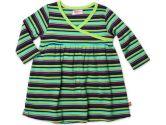 Midnight Stripe Long Sleeve Baby Dress- Fuchsia/Navy - 24M (Zutano: 754155328150)