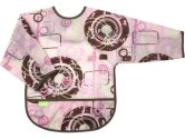 Kushies B275-35 Waterproof Bib with Sleeves, Pink Dist C, Toddler (Kushies: 064408604093)