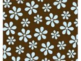 SheetWorld Fitted Portable / Mini Crib Sheet - Blue Floral Brown Woven - Made In USA (sheetworld: 744664156375)