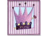 The Kids Room Purple and White Stripe Princess Crown Wall Plaque (The Kids Room by Stupell: 049182012029)