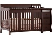 Stork Craft 04586-479 Portofino 4-In-1 Fixed Side Convertible Crib and Changer (Espresso) (Stork Craft: 056927084623)