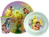 Disney Fairies 8 Inch Round Melamine Plate (Zak Designs: 707226658922)