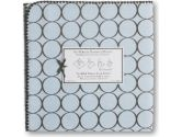 SwaddleDesigns Ultimate Receiving Blanket - Pastel Blue with Brown Mod Circles (SwaddleDesigns: 710434175075)