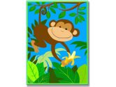 The Kids Room It's A Jungle Out There Wall Plaque, Monkey (The Kids Room by Stupell: 049182013040)