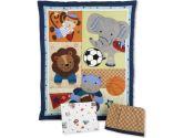 Lambs & Ivy 3 Piece Bedding Set - Teammates (Lambs & Ivy: 084122210035)