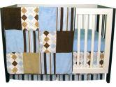 Trend Lab 106452 Prep School Blue - 3 Piece Crib Bedding Set (Trend Lab: 846216026904)