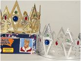 Rubies Costume Co H218S Silver Kings Crown (Rubie's Costume Co: 236850000000)