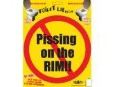 Billy Bob Teeth 10001 Toilet Sticker - Piss On (Billy Bob Teeth Inc.: 658890100012)