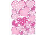 Pink Pastel Polka Dot Heart Wall Decals Stickers (Presto Wall Decals: 722301817896)