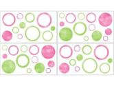 Circles Pink Wall Decal Stickers by Sweet Jojo Designs - Set of 4 Sheets (Sweet Jojo Designs: 846480009764)