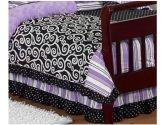 Kaylee Bed Skirt for Toddler Bedding Sets by Sweet Jojo Designs (Sweet Jojo Designs: 846480013341)