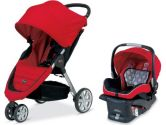 Britax B-Agile and B-Safe Travel System, Red (Britax USA: 000013829803)