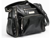 Ju Ju Be Be Fabulous Earth Leather Diaper Bag, Black/Dizzy Daisies (Ju Ju Be: 879807003817)
