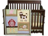 Baby Barnyard 4 Piece Crib Bedding Set by Trend Lab (Trend Lab: 846216020063)