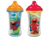 Munchkin 2 Count Sesame Street Click Lock Insulated Sippy Cup, 9 Ounce (Munchkin: 735282154225)