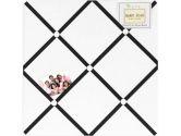White and Black Hotel Fabric Memory/Memo Photo Bulletin Board by Sweet Jojo Designs (Sweet Jojo Designs: 846480016427)