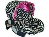 Baby Bella Maya Pink Zebra Infant Car Seat Cover (Baby Bella Maya: 811966016673)