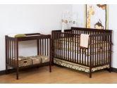 Stork Craft 04521-004 Milan Convertible Crib and Changer Combo Set (Cherry) (Stork Craft: 056927084364)
