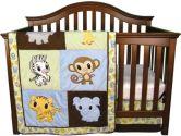 Trend Lab 106524 Chibi Zoo - 3 Piece Crib Bedding Set (Trend Lab: 846216026843)