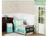 Turquoise and Lime Layla Girls Toddler Bedding 5pc Set by Sweet Jojo Designs (Sweet Jojo Designs: 846480011156)