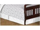 Gray and White Diamond Bed Skirt for Toddler Bedding Sets by Sweet Jojo Designs (Sweet Jojo Designs: 846480014423)