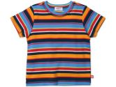 Zutano Short Sleeve Toddler T-Shirt - Multistripe - 3T - Navy (Zutano: 754155297005)