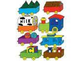 Train Wall Decals / Nursery Stickers (Presto Wall Decals: 850013002597)