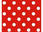 SheetWorld Fitted Cradle Sheet - Primary Polka Dots Red Woven - Made In USA - 18 inches x 36 inches (45.7 cm x 91.4 cm) (sheetworld: 658129901205)