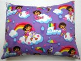 SheetWorld Crib / Toddler Baby Pillow Case - Percale Pillow Case - Rainbow Dora - Made In USA (sheetworld: 765573997293)