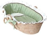 Hoohobbers Classic Green Moses Basket, Red (Hoohobbers: 038326402314)