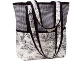 Hoohobbers Etoile Black Diaper Tote Bag, Orange (Hoohobbers: 048517807156)