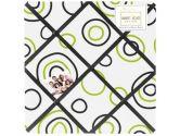 Spirodot Lime and Black Fabric Memory/Memo Photo Bulletin Board by Sweet Jojo Designs (Sweet Jojo Designs: 846480020097)