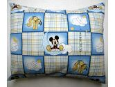 SheetWorld Twin Pillow Case - Percale Pillow Case - Mickey Mouse Squares - Made In USA (sheetworld: 334362000034)