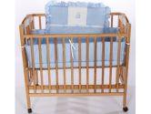 Teddy Bear Porta Crib Bedding - Color: Light Blue (Ababy: 009243094203)