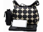 Classic Hobo Style Hobo Diaper Bag by OiOi - Sand Dot (OiOi: 813015014319)