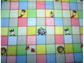 SheetWorld Round Crib Sheets - Safari Animal Patch - Made In USA - 106.7 cm (42 inches) (sheetworld: 030915159654)
