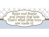 Rosenberry Rooms Snips and Snails and Puppy Dog Tails Canvas Reproduction (Rosenberry Rooms: 714429789636)