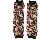 Babylegs Baby-Girls Infant Loveable Leopard Leg Warmer, Brown/Pink, One Size (BabyLegs: 845520233336)