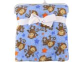 "Baby Starters ""Chimp Star"" Plush Blanket - blue, one size (Baby Starters: 022253264602)"