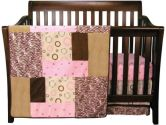 Sweet Safari Pink - 3 Piece Crib Bedding Set (Trend Lab: 846216027352)